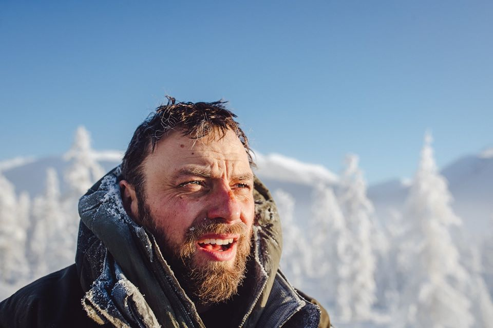 """Piotr """"ICE WOLF"""" Marczewski na trasie."""